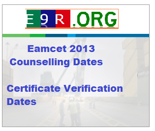 Eamcet Counselling Dates 2013 Certificate Verification Dates at apeamcet.nic.in