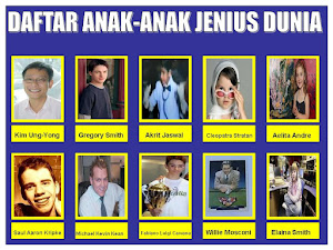 DAFTAR ANAK JENIUS DI DUNIA