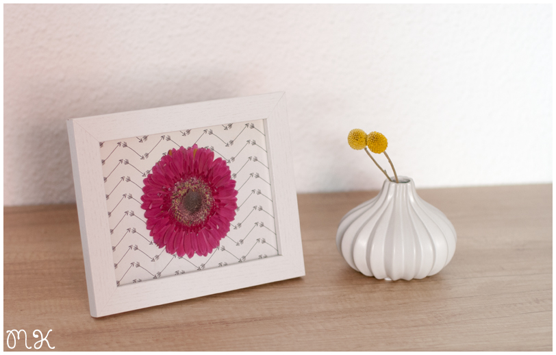marco con flor seca
