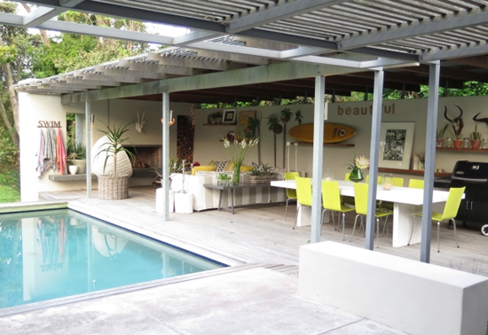 Safari Fusion blog | Outdoor living | City edge funky cottage living at Tool Shed Constantia, Cape Town