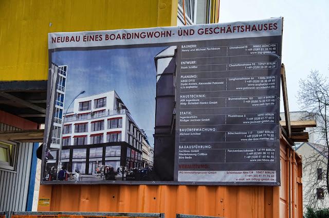 Baustelle Neubau eines Boardingwohn- und Geschäftshauses, Oranienburger Straße / Große Hamburger Straße, 10115 Berlin, 10.12.2013