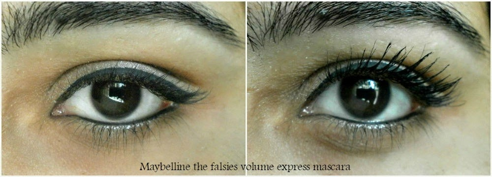 Maybelline the Falsies Volume Express Mascara before and after demo
