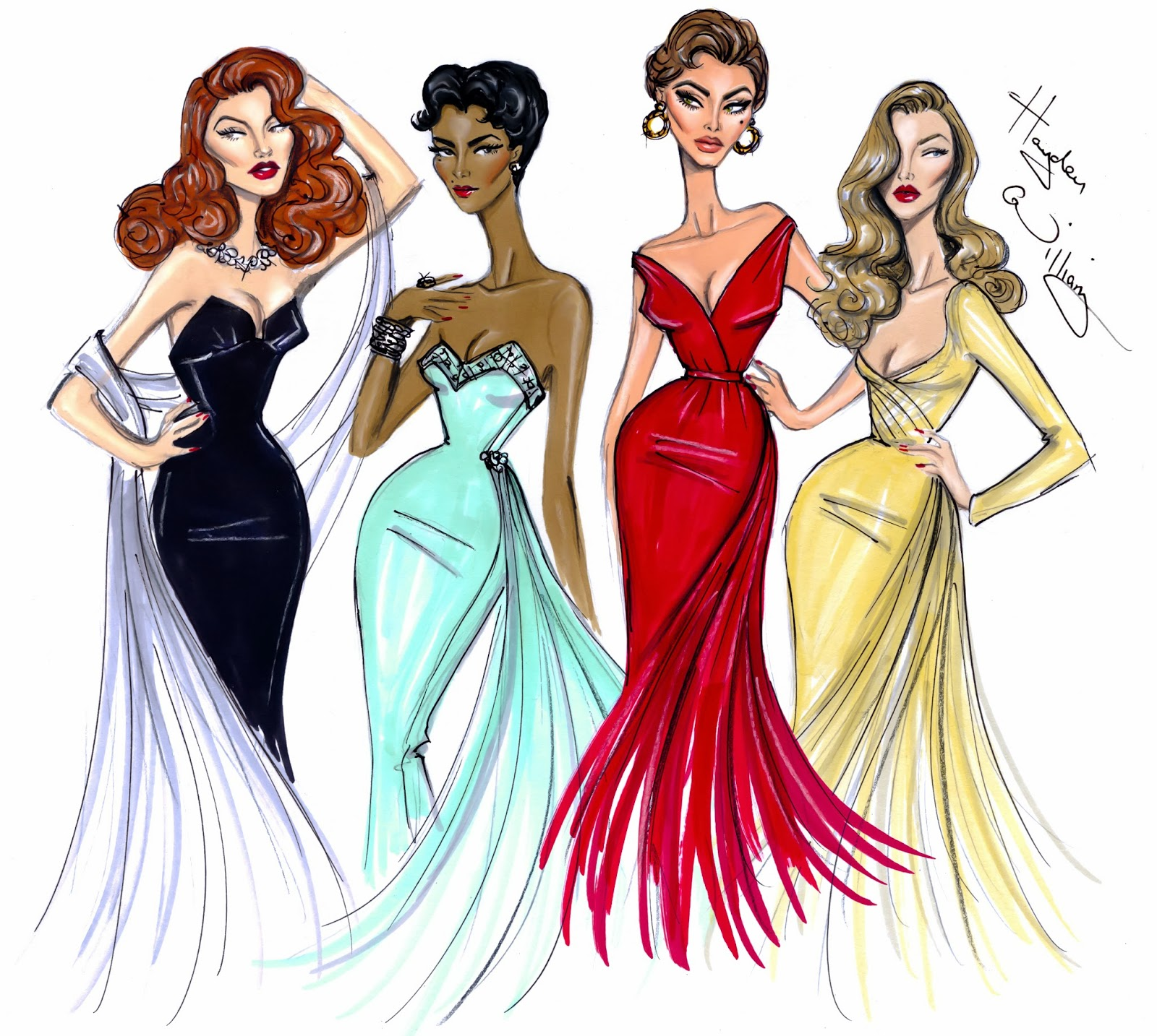 Hayden Williams Fashion Illustrations December 2013