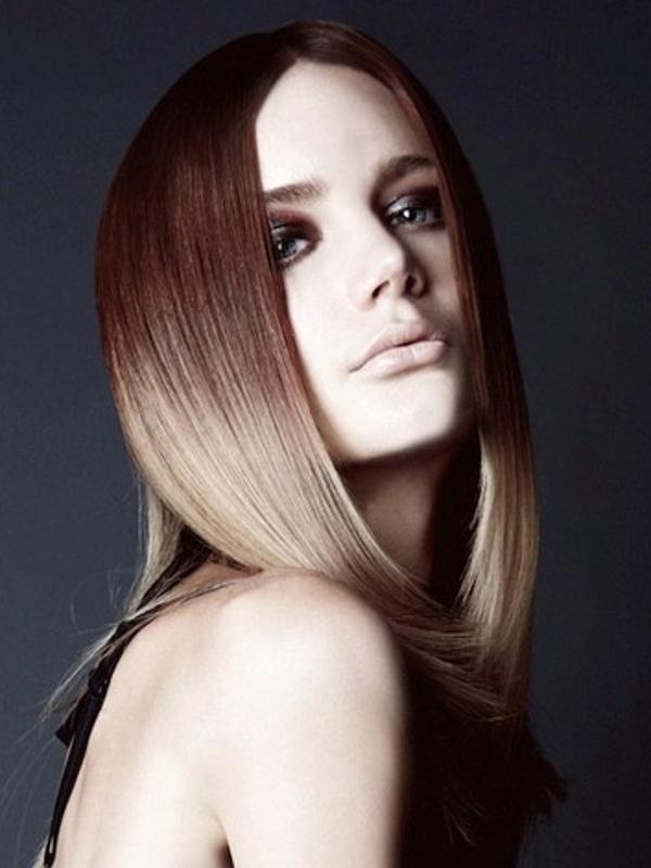 Балаяж на мелированные волосы фото - 9d