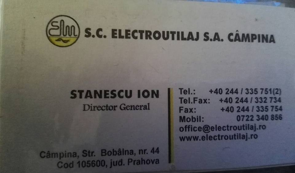 23. STANESCU ION , Dir. S.C. ELECTROUTILAJ S.A. CAMPINA
