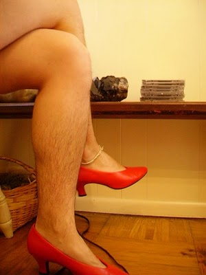 Hairy female legs