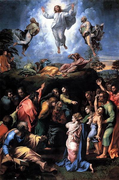 La Transfiguración pintura Obra de Rafael Sanzio