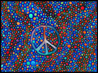 Circles and Peace sign artwork