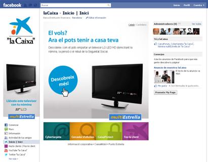 """Pàgina de """"la Caixa"""" a facebook"""