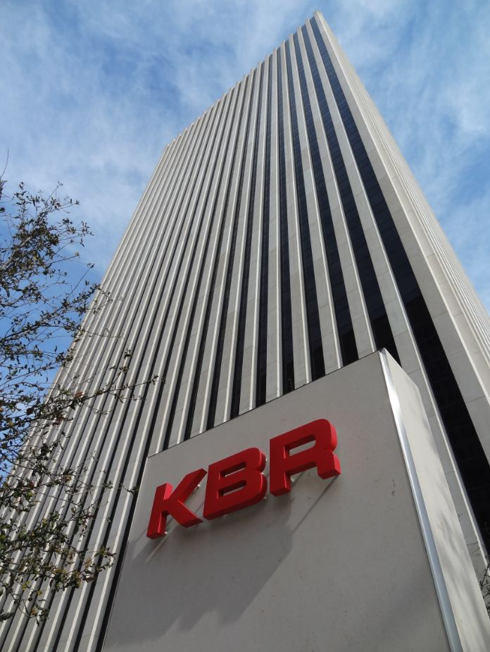 kbr office tower kbr on jefferson corporate sign on plaza ...