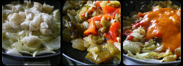 Elaboración de la salsa vizcaína
