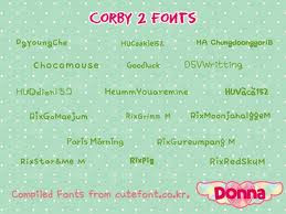 CORBY 2 FONTS: Compiled Fonts