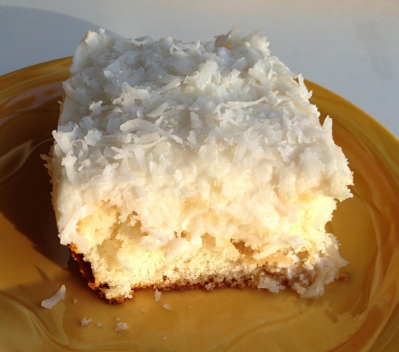 Coconut Sheet Cake Using Cake Mix
