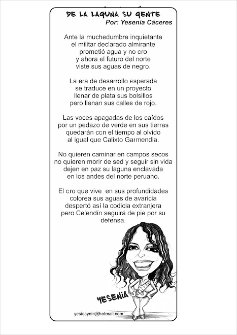 POEMA DE YESENIA CÁCERES,