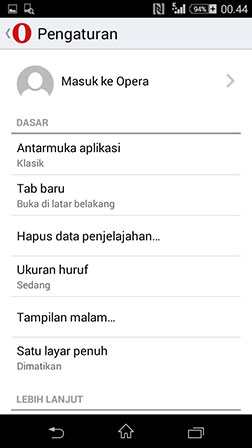 opera mini we browser terbaru
