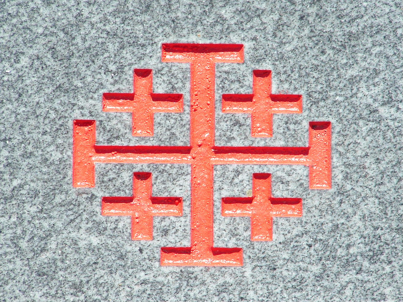 Gravestone rambler symbol jerusalem cross this version includes four smaller crosses representing matthew mark luke and john the four evangelists who spread the word of god buycottarizona Choice Image
