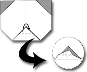 Cara Membuat Origami Wajah Panda
