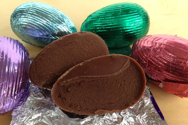 Dairy-free Filled Chocolate Easter Eggs