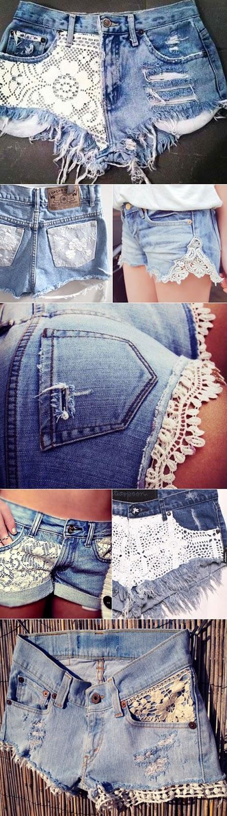 DIY lace shorts | - Trashion Helsinki
