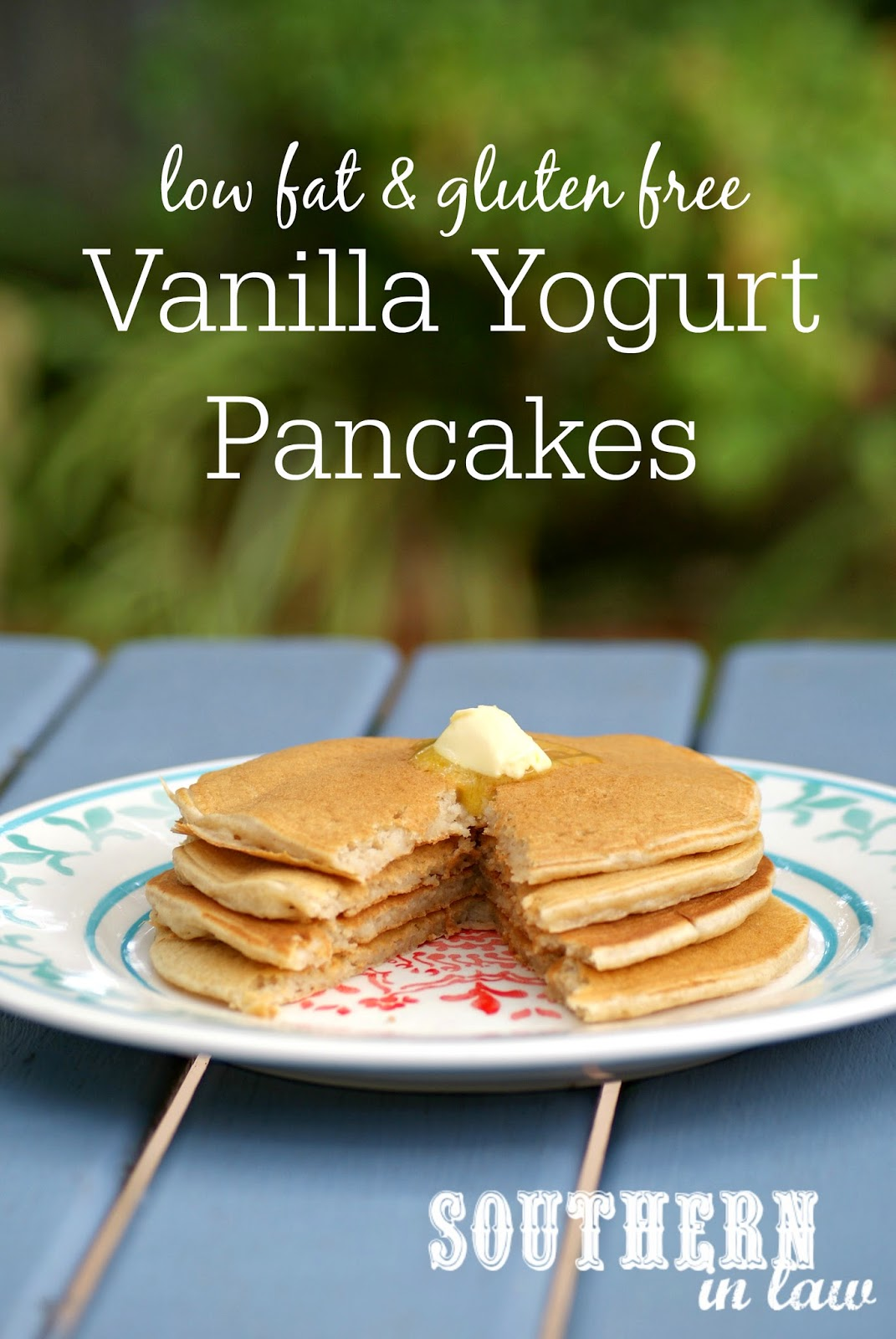 Healthy Vanilla Yogurt Pancakes - Low Fat, Gluten Free, No Added Sugar