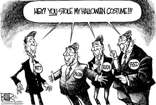 I really like this political cartoon! I think it is really funny. It shows the many members of the Republican party including former presidential candidate ...  sc 1 st  Painted Politics & Painted Politics: Halloween Political Cartoons