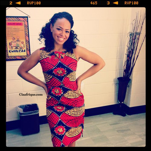 Spotted elle varner in african print dress ciaafrique african fashion beauty style Ciaafrique fashion beauty style