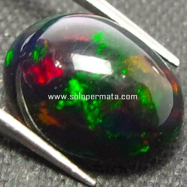 Batu Permata Black Opal Kalimaya - 26B09