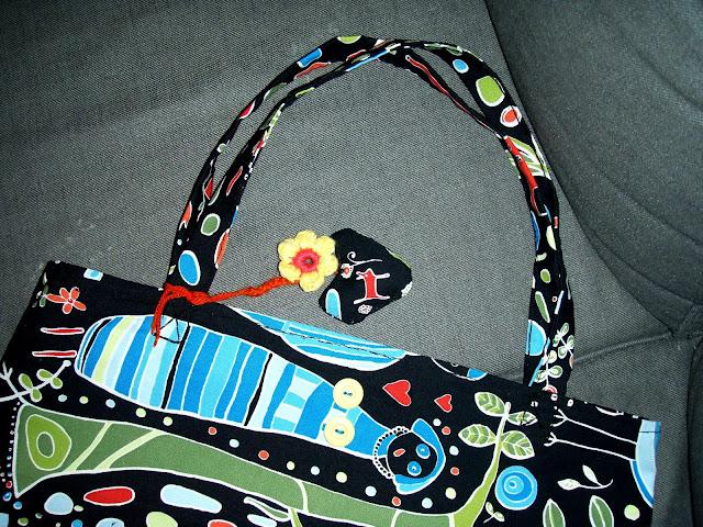 hand sewed bag ikea fabric