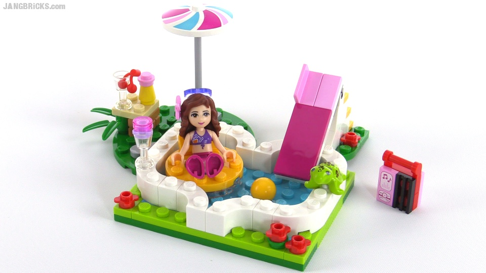 Lego Friends Olivias Garden Pool Review Set 41090