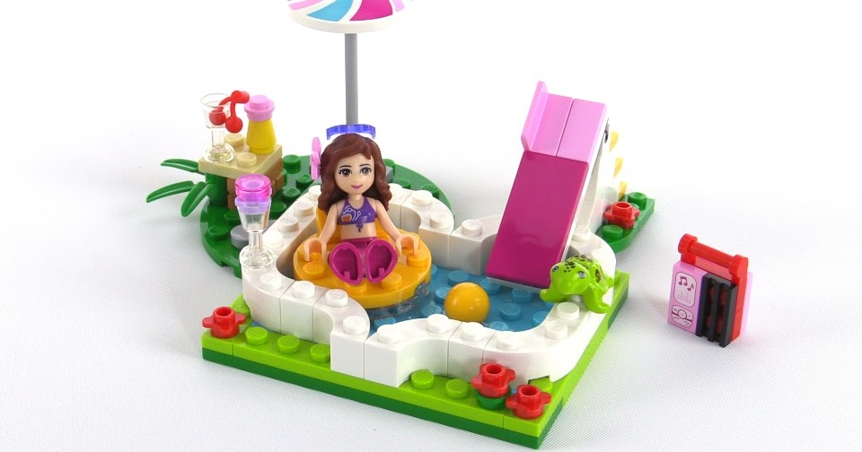 Lego friends olivia 39 s garden pool review set 41090 for Lego friends olivia s garden pool 41090