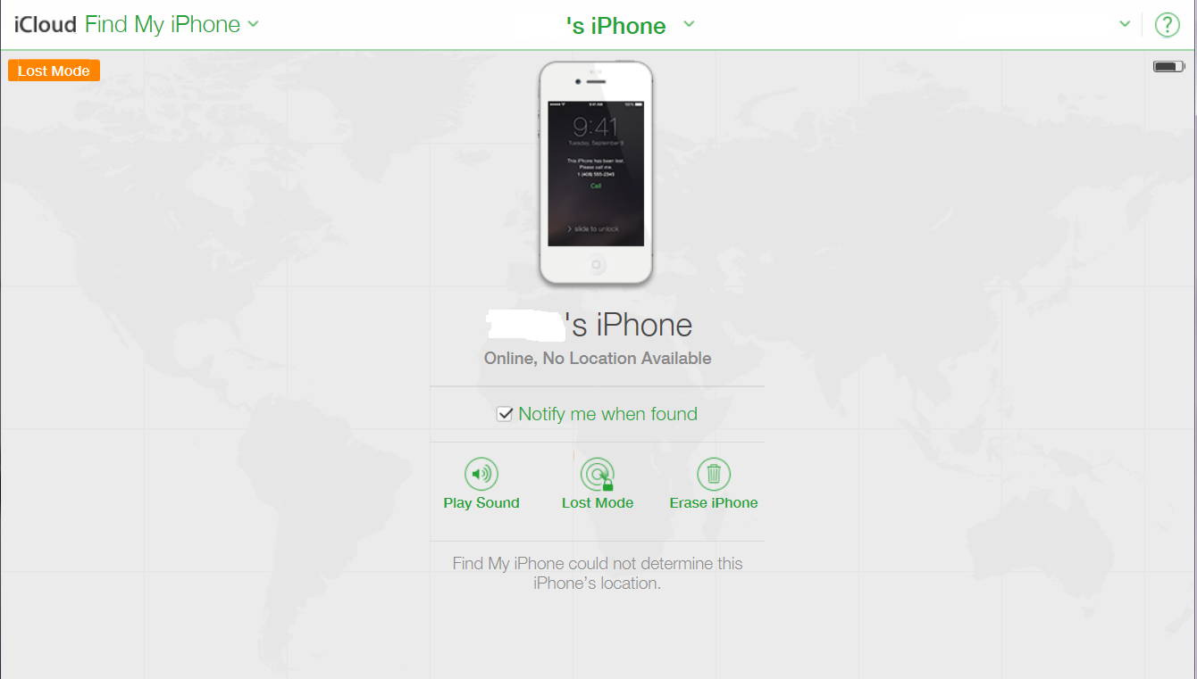 how to use find my iphone lost mode