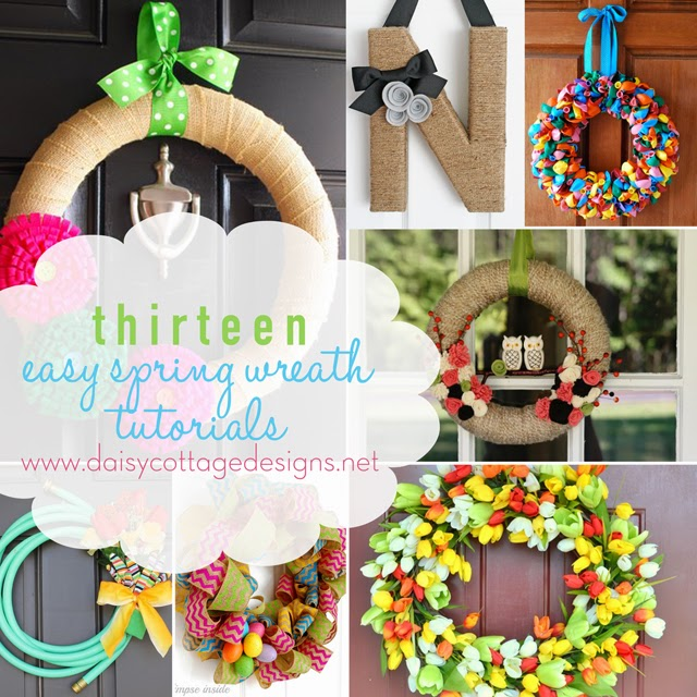 Easy Spring Wreath Tutorials
