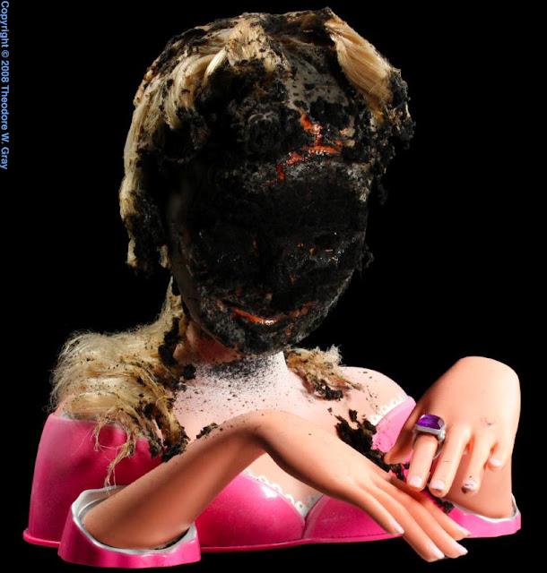 Barbie brændte fyrværkeri til nytår, uden sikkerhedsbriller