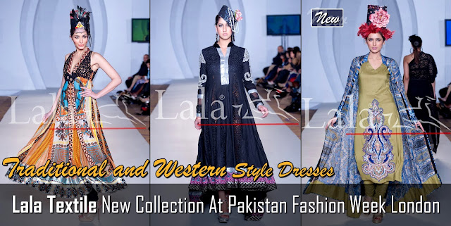 Lala Textile New Collection At Pakistan Fashion Week London 2012