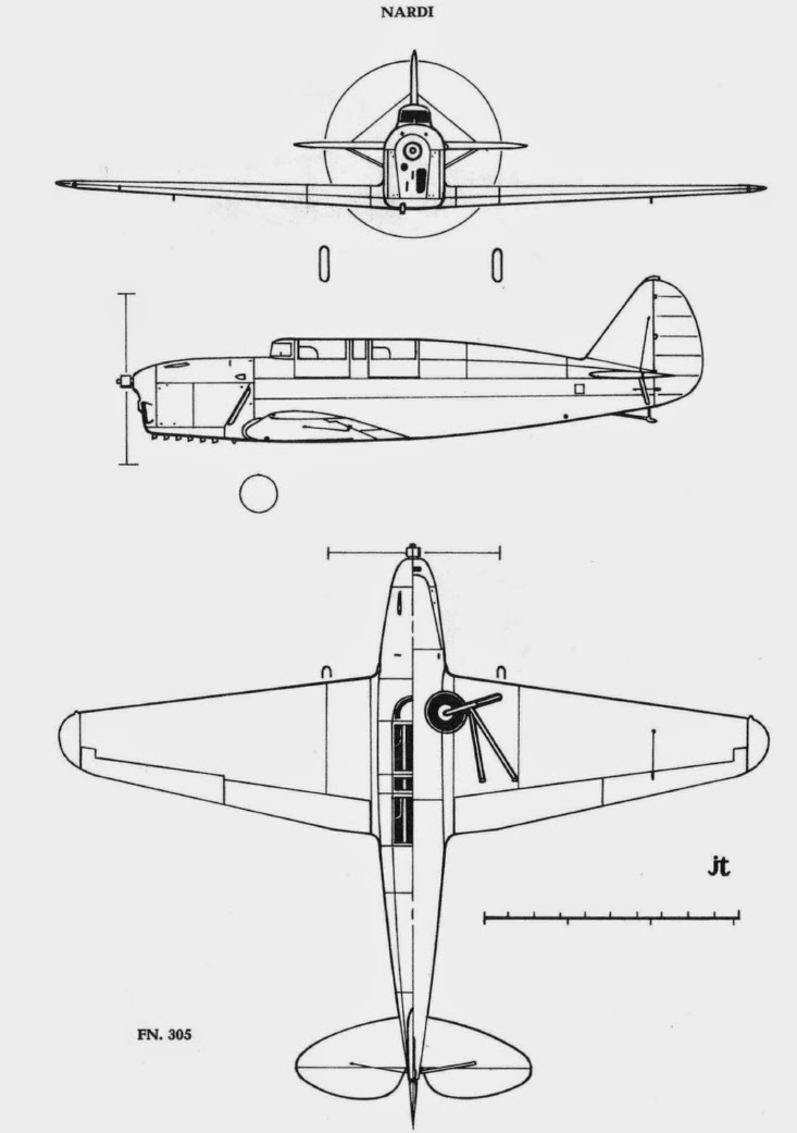 italian aircraft of wwii  nardi f n 305a