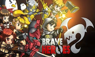 Screenshots of the Brave Heroes for Android tablet, phone.