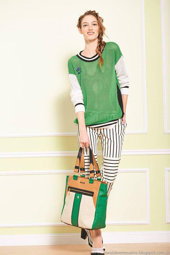 Uma primavera verano 2015, moda casual urbana estilo sporty chic verano 2015.