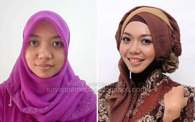 Before After : MakeUp Natural Ala Hijabers
