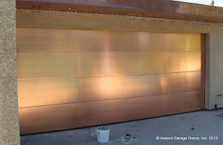 copper clad garage door