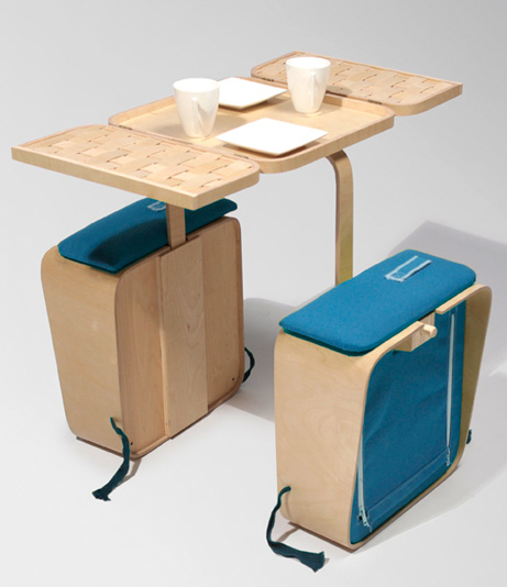 Relaxshacks.com: A foldable tiny house picnic table and chairs (you ...