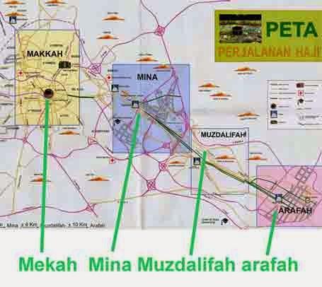 peta perjalanan jamaah haji