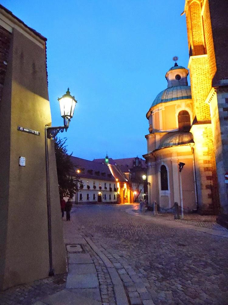photo TAKEN ON Ostrów Tumski, WroclaW, at night  by Andie Gilmour