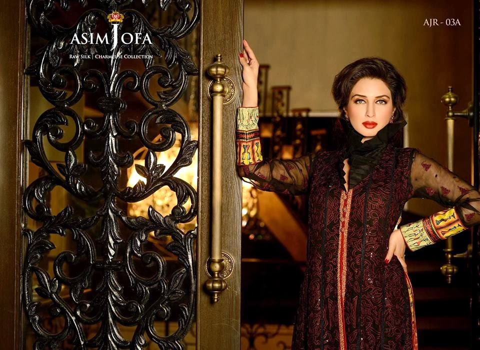 AsimJofaWinterCollection2014 wwwfashionhuntworldblogspotcom 001 - Asim Jofa Winter Collection 2014