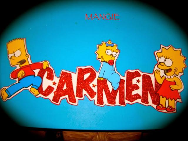 Letrero nombre los Simpson