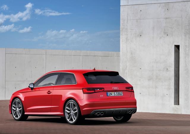 Audi S3 terza generazione, con il motore 2.0 TFSI da 300 CV