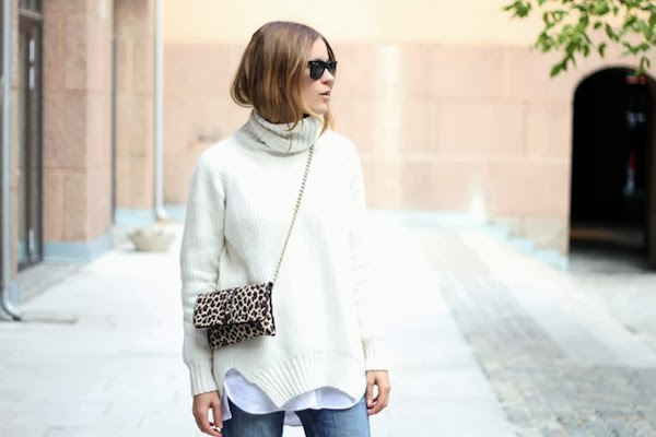 Sara Strand Street Style Fashion Blogger Turtleneck Leopard