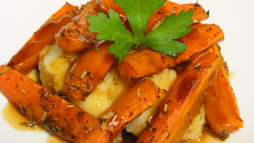 cocinar para los amigos zanahorias asadas
