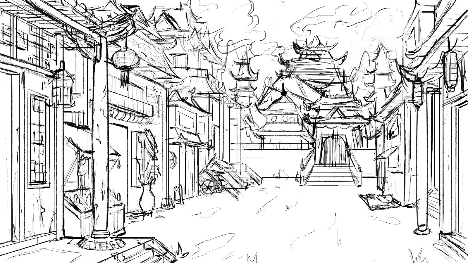 I Recently Took A Class On Visual Development Through Oatley Academy And This Is Glimpse At My Process In Making Final Layout Piece