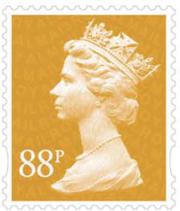88p Machin definitive stamp.