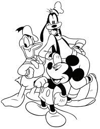 imagens para imprimir e colorir desenhos turma do mickey donald pateta minnie pluto